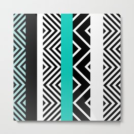 geometric in blue Metal Print
