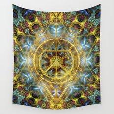 Sacred Geometry Fractal Mandala Wall Tapestry