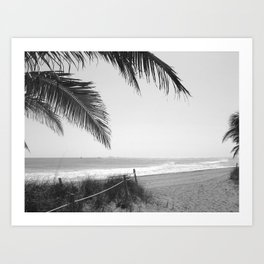 """Welcome to Ft. Lauderdale Beach"" Art Print"