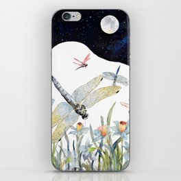 Good Night Surreal Dragonfly Artwork iPhone Skin