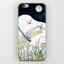 Good Night Surreal Dragonfly Artwork iPhone Skin