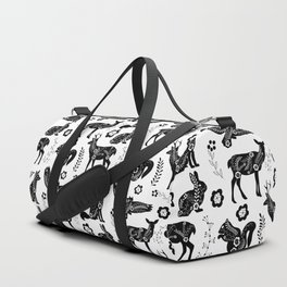 Folk Art Forest Animals Duffle Bag
