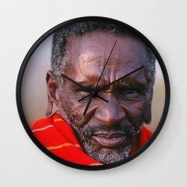 African Maasai Elder Wall Clock
