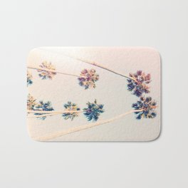 Vintage Pastel Palm trees Bath Mat