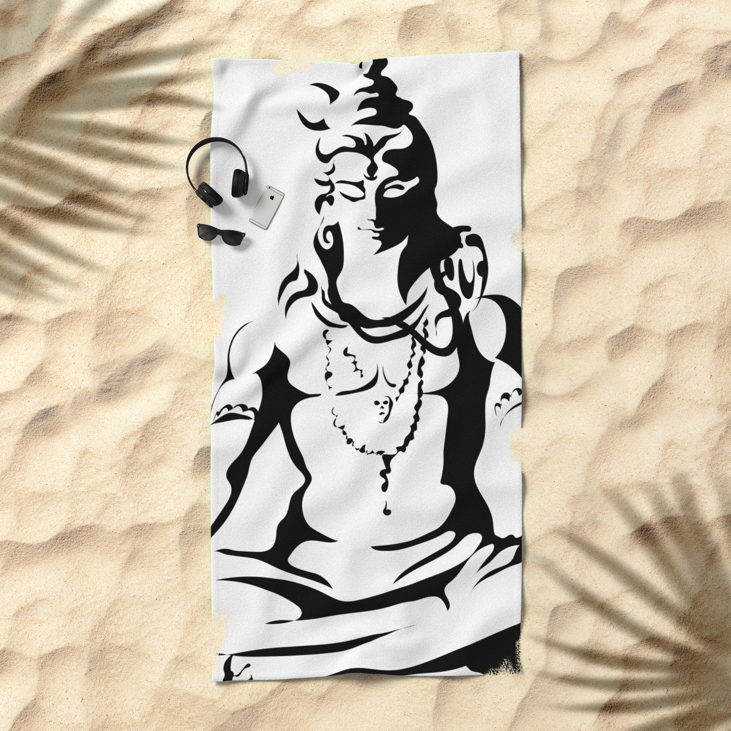 Shiva Drawing Parvati Sketch Beach Towel By Ergyselly Society6