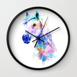 Horse Watercolor, Horse Print, Watercolor Print, Watercolor Animal, Horse Painting, Horse Gift Print Wall Clock