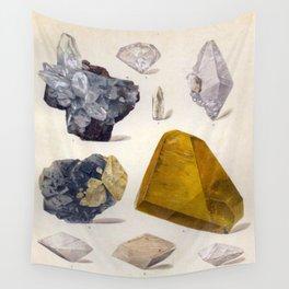 The Mineral Kingdom by Dr. Reinhard Brauns, 1903. Germany. Beautiful Gems Mineral Jewels Wall Tapestry
