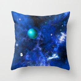Hegemony in ultramarine blue Throw Pillow
