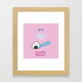 Sushi Time! - Onigiri Framed Art Print