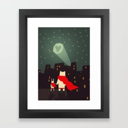 The city needs love Framed Art Print