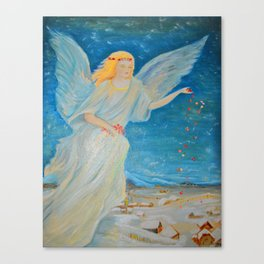 Bless me | Guardian Angels are Here | Angel of Abundance | Love Canvas Print