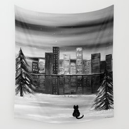 November b&w Wall Tapestry