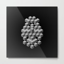 Back to my Cube Roots Metal Print