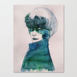 Blue-Green Skin Canvas Print