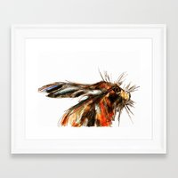 hare Framed Art Prints featuring Hare by James Peart