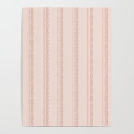Decorative vertical stripes on a beige background. Poster