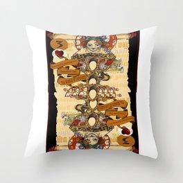 'Cheshire' (Alice in Wonderland Steampunk Series) Throw Pillow