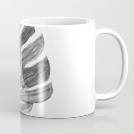 Monstera black and white, illustration Coffee Mug
