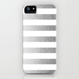 Simply Striped Moonlight Silver iPhone Case