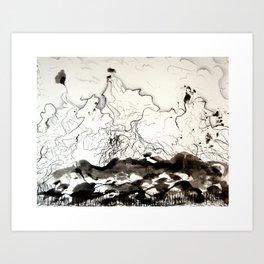 Inking Mountain Art Print