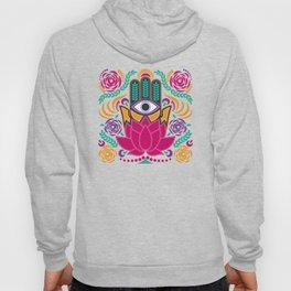 Hamsa Lotus Flower Spiritual Hoody