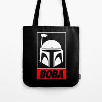boba Tote Bags featuring Defy-Boba by IIIIHiveIIII