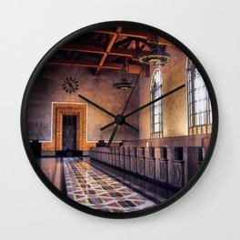 Los Angeles Union Station. Historic Ticket Counter. © J&S Montague. Wall Clock