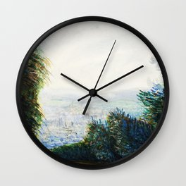 Renoir Neck Gaiter The Auvers Valley on the Oise River Renoir Painting Neck Gator Wall Clock