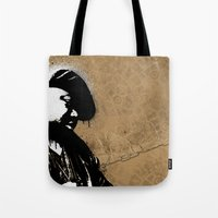 biggie smalls Tote Bags featuring The Notorious B.I.G. - Biggie Smalls by Chad Trutt