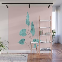 Tropical Leaves Finesse #2 #wall #decor #art #society6 Wall Mural