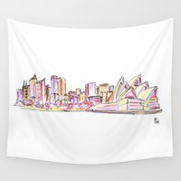 sydney Wall Tapestries featuring Sydney by Ursula Rodgers