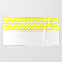 Chevron (Yellow/White) Beach Towel