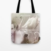 captain swan Tote Bags featuring Captain Swan by Daniela Vasco