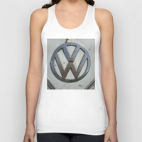vw bus Tank Tops featuring Rusty VW Bus Symbol by wildVWflower