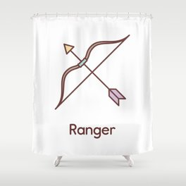 Cute Dungeons and Dragons Ranger class Shower Curtain