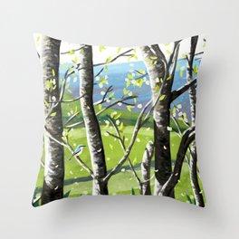 Wild Cherry Blossom  Throw Pillow