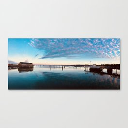 A Small Fishing Town Canvas Print