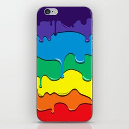 Rainbow Drip iPhone Skin