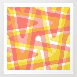 Pastel Waves 3 - Pink Art Print