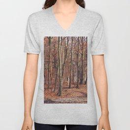 Birch wood in winter Unisex V-Neck
