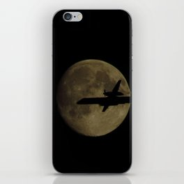 Fly by the moon iPhone Skin