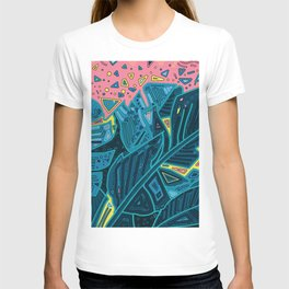 tropical leaves abstract 1 T-shirt