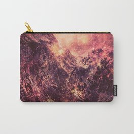 Galaxy Mountains : Mauve Burgundy Carry-All Pouch