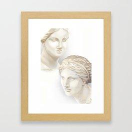 Dueling Aphrodites Framed Art Print