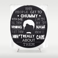 swanson Shower Curtains featuring RON SWANSON by Edna Andrade