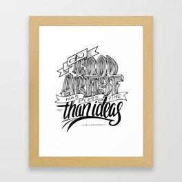 Quote - MK - Typedesign Framed Art Print