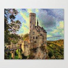Castle on a beautiful sunset Canvas Print