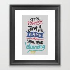 GAME Framed Art Print