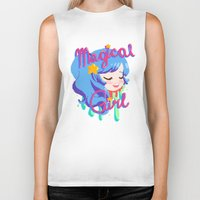 magical girl Biker Tanks featuring Magical Girl by Ferret Party