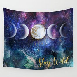 Celestial Ocean Moon Phases | Stay Wild Wall Tapestry